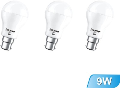 9W Cool Day Light LED Bulb (pack of 3)