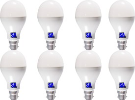 5W B22 LED Bulb (White, Set Of 8)