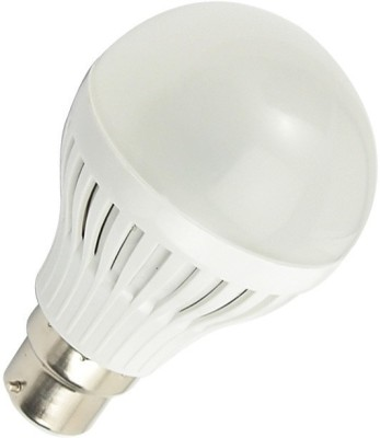 3W B22 LED Bulb (White, Set of 2)