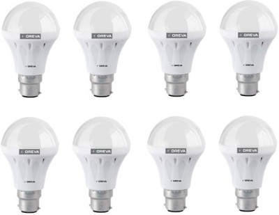 Oreva-6W-Aluminium-LED-Bulb-(White,-Pack-of-8)