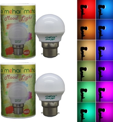 Premium 0.5W Night Lamp LED Bulb (Multicolor, Pack of 2)