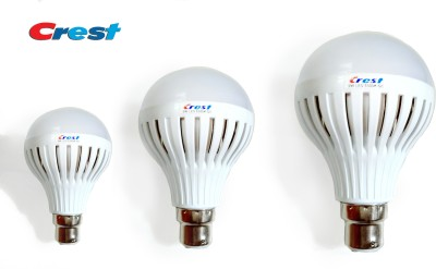 3W, 5W, 7W B22 LED Light Bulb (Set Of 3)
