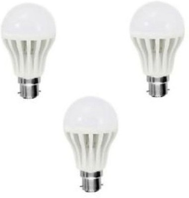 7W Plastic 220 Lumens White LED Bulb (Pack Of 3)