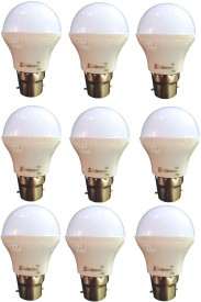 3W B22 LED Bulb (White) [Pack of 9]