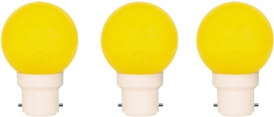 0.5W B22 LED Bulb (Yellow, Set of 3)