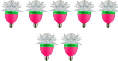 Lotus-3-W-LED-Bulb-(Multicolor,-Pack-of-7)