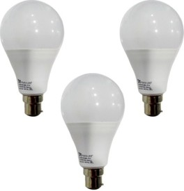 12 W B22 PAG LED Bulb (White, Pack of 3)