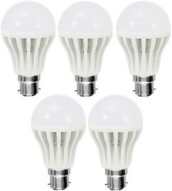 12W-Plastic-White-LED-Bulb-(Pack-Of-5)