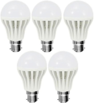 12W Plastic White LED Bulb (Pack Of 5)