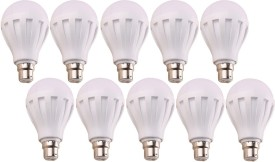 7W B22 LED Bulb (White, Set Of 10)