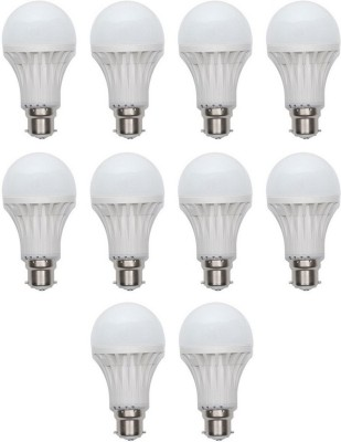 Digilight-9W-Plastic-Body-White-LED-Bulb-(Pack-Of-10)
