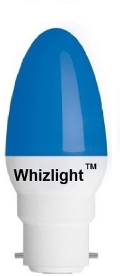 LEDZ Ping Pong 0.5 Watt Night Candle LED Bulb (Blue)