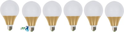 9W E27 Aluminium Body White LED Bulb (Pack of 6)