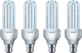 Essential 8 Watt CFL Bulb (Cool Day Light,Pack of 4)