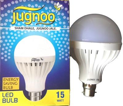 15W B22 Plastic LED Bulb (White, Pack of 2)