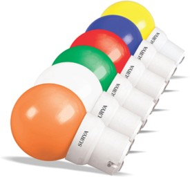 0.5W-Multicolor-20-Lumens-LED-Bulbs-(Pack-Of-6)
