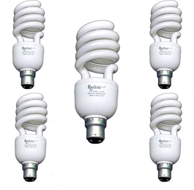 27-W-SP-Lamp-B22-Cap-CFL-Bulb-(Cool-Day-Light,-Pack-of-5)