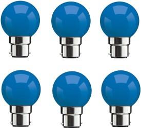 0.5W Blue LED Bulbs (Pack Of 6)
