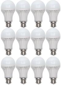 Digilight 11W Plastic Body White LED Bulb (Pack Of 12)
