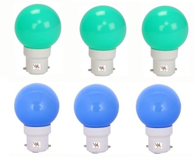 0.5W LED Light Multicolour (Pack Of 6)