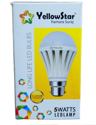 5W B22 LED Bulb (White, Set of 5)