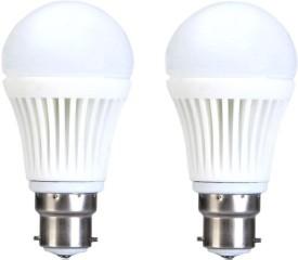 5W B22 Warm White LED Bulb (Pack of 2)