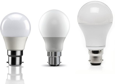 3W, 5W, 7W LED Bulb (Warm White, Set of 3)