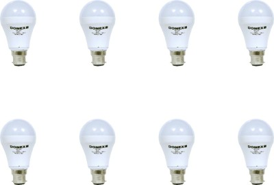 7W Aluminium Body White LED Bulb (Pack of 8)