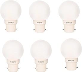 0.5 W Deco B22 IND LED Bulb (White, Pack of 6)