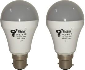 7W IC Based Energy Saving LED Bulb (White, Pack of 2)
