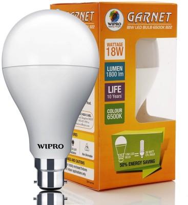 18 W LED 6500K Cool Day Light Bulb B22 White