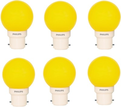 0.5 W LED Deco B22 IND Bulb Yellow (pack of 6)