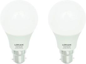 7W B22 LED Bulb (Cool White, Set of 2)