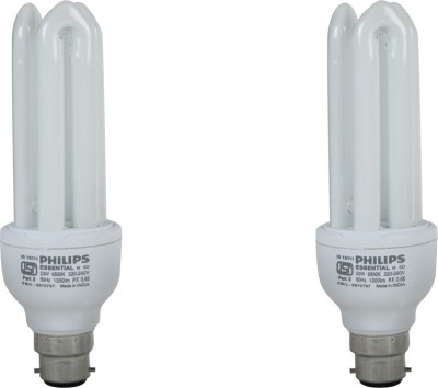 Essential 8 Watt CFL Bulb (Cool Day Light,Pack of 2)