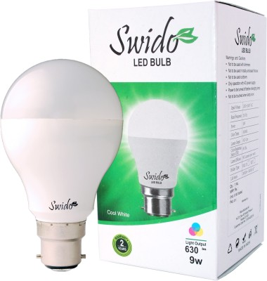 9W B22 LED Bulb (White, Set of 4)