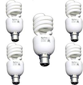 15 W SP Lamp B22 Cap CFL Bulb (Cool Day Light, Pack of 5)