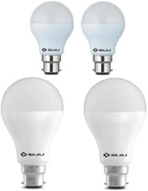 5W And 15W LED Bulb (White, Pack of 4)
