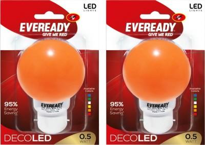 0.5W Deco UP LED Bulb (Orange, Pack of 2)