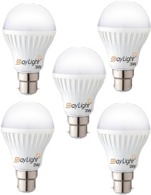 Technology 3 W LED Bulb (Cool White, Pack of 5)