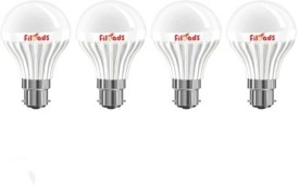 5W B22 LED Bulb (White, Set of 4)
