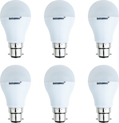 3W B22 White LED Bulb (Pack of 6)