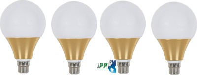 6W B22 Aluminium Body White LED Bulb (Pack of 4)