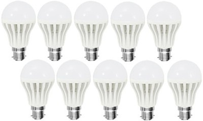 Gold 3W Plastic Body Warm White LED Bulb (Pack Of 10)