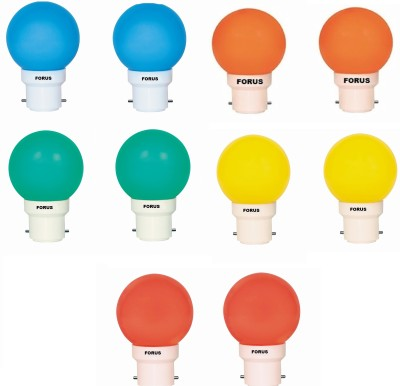 0.5 W FLZM22PL LED Bulb Multicolor (pack of 10)