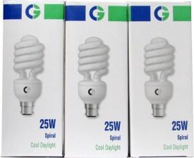 Greaves Spiral 25 Watt CFL Bulb (Cool Day Light,Pack of 3)