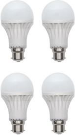11W B22 LED Bulb (White, Set of 4)