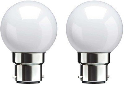 0.5 W B22 LED Bulb (White, pack of 2)