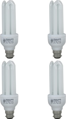 Essential B22 23W CFL Bulb (White, Pack of 4)