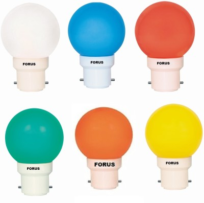 FLZM22PL 0.5W LED Bulb Multicolor (Set of 6)