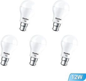 12W Cool Day Light LED Bulbs (Pack Of 5)